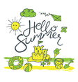 hello summer pattern vector image