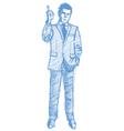 Sketch man vector image vector image