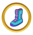 Boot for snowboarding icon vector image