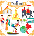 Elements about Thailand vector image