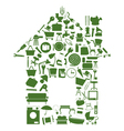 House of icons vector image