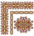 ornamental floral vintage frame design set vector image