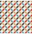 Pattern circle vintage vector image