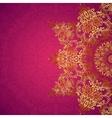 Purple ornate vintage wedding card background vector image