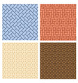 set of seamless pavement pattern in korean style vector image