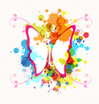 art butterfly design vector image vector image