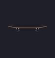 Skateboard computer symbol vector image