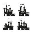 Medieval castle icon set vector image