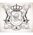 Herealdic shield Crown vector image