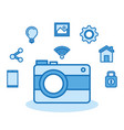 photographic camera internet digital media vector image