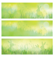 rabbit banners vector image