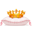 Crown on the pillow vector image vector image