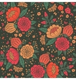 Seamless vintage pattern with decorative flowers vector image