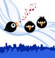 birds singing vector image