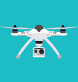 Quadrocopter Flat style quadcopter vector image