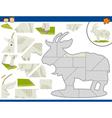 cartoon goat jigsaw puzzle task vector image vector image