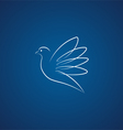 Dove logo over blue vector image vector image