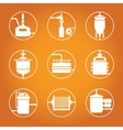 Seamless background with beer brewing process vector image