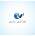 Wash letter vector image