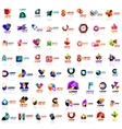 Mega set of geometrical abstract logos vector image