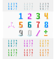 Isometric font from the cubes vector image vector image