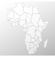 Africa map background vector image