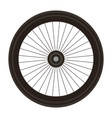 bike wheel isolated icon vector image