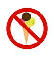 forbidding signs no ice-cream vector image