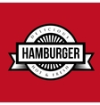 Hamburger vintage stamp vector image