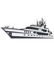 luxury motor yacht vector image