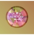 New York Abstract geometric banner colorful retro vector image