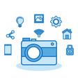 photographic camera internet digital media vector image