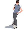 Skater kid vector image