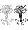 stylized tree with heart vector image
