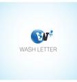 Wash letter vector image