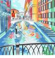 Bridge of Sighs in Venice vector image