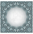 vintage background with silver pattern vector image