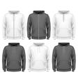Men hoodie vector image vector image