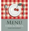 menu cherry vector image vector image