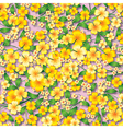 abstract yellow seamless spring floral ornament vector image