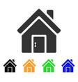 closed house door icon vector image