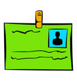 identification card icon icon cartoon vector image