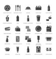 plastic packaging disposable tableware vector image