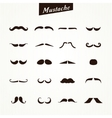Set of mustaches isolated vector image
