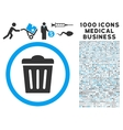 Trash Can Icon with 1000 Medical Business vector image