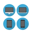 Electronic devices icon set vector image