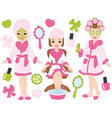 Spa Girls Set vector image