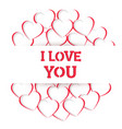 heart i love you handmade composition vector image