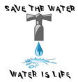 save the water vector image vector image