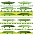 Background with crocodiles vector image
